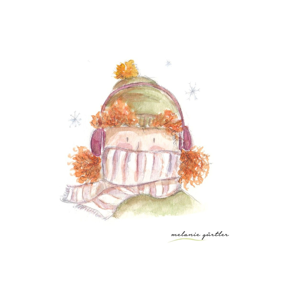 Winter Kalt Aquarell Kinderbuch Melanie Gurtler Illustration