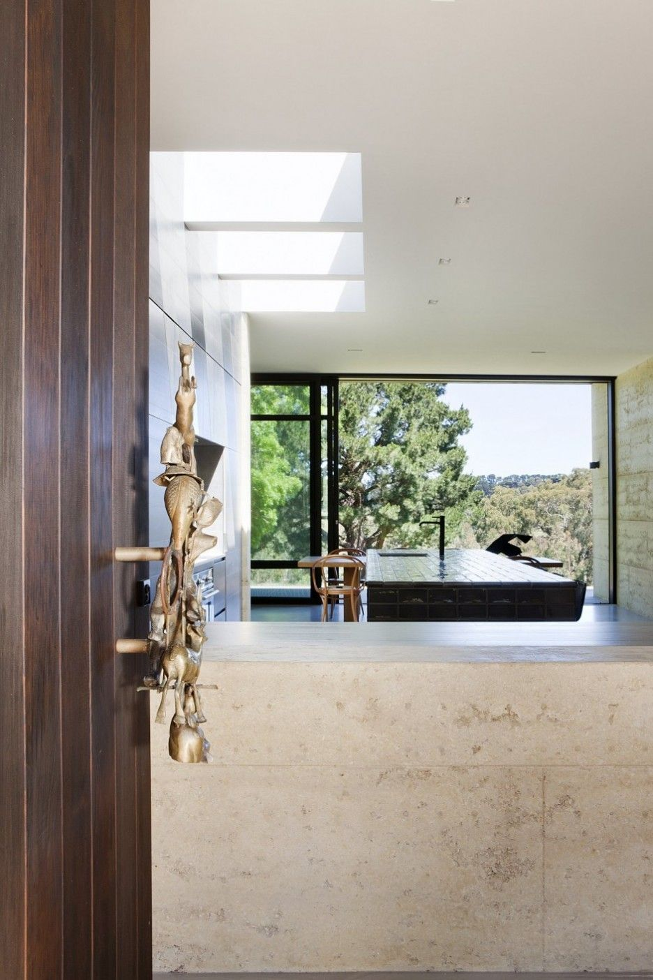 Contemporary hallway ideas  Awesome Interior Design With Contemporary Wooden Door Design Ideas
