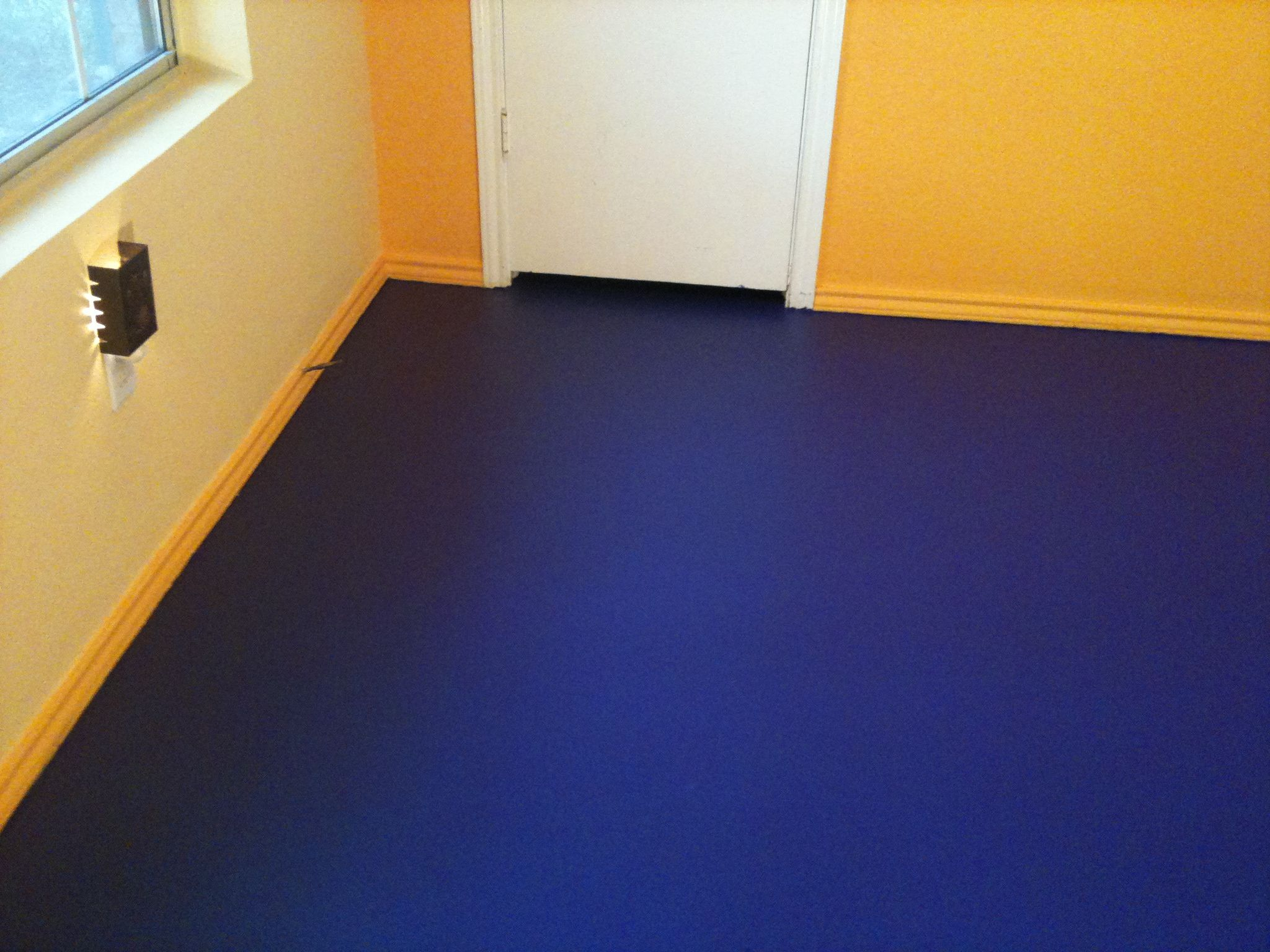 Modern Dark Blue Paint Cement Floors Colors Flooring