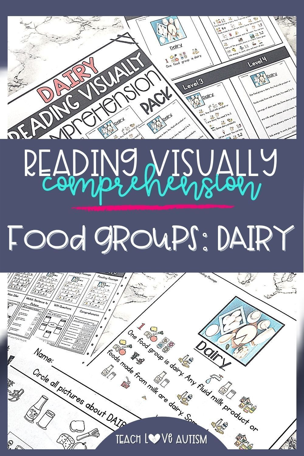Dairy Reading Visually Comprehension Shop Teach Love Autism In 2021 Reading Comprehension Skills Special Education Activities Reading Comprehension Activities [ 1500 x 1000 Pixel ]