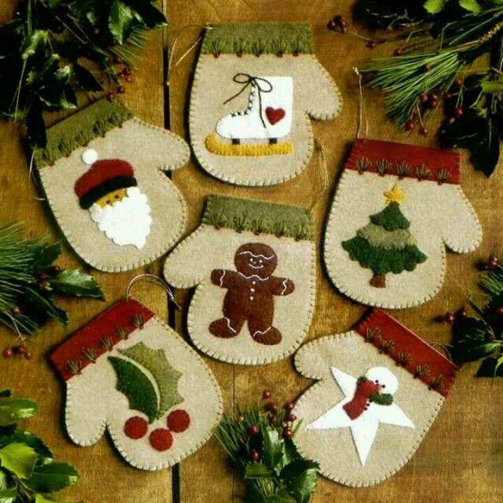 Warm Hands Felt Applique Ornaments Kit Rachelu0027s of Greenfield