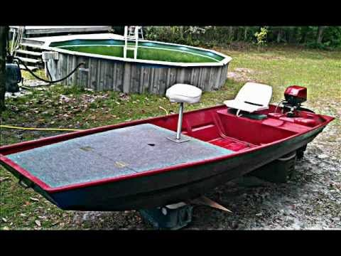 Jon boat to bass boat conversion youtube boats for Fish finder for jon boat