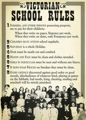 Pin By Heather Kristen Boles On Love Vintage School Rules Victorian History Retro School