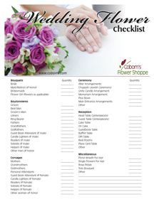 coborn s blog free printable wedding flower checklist wedding