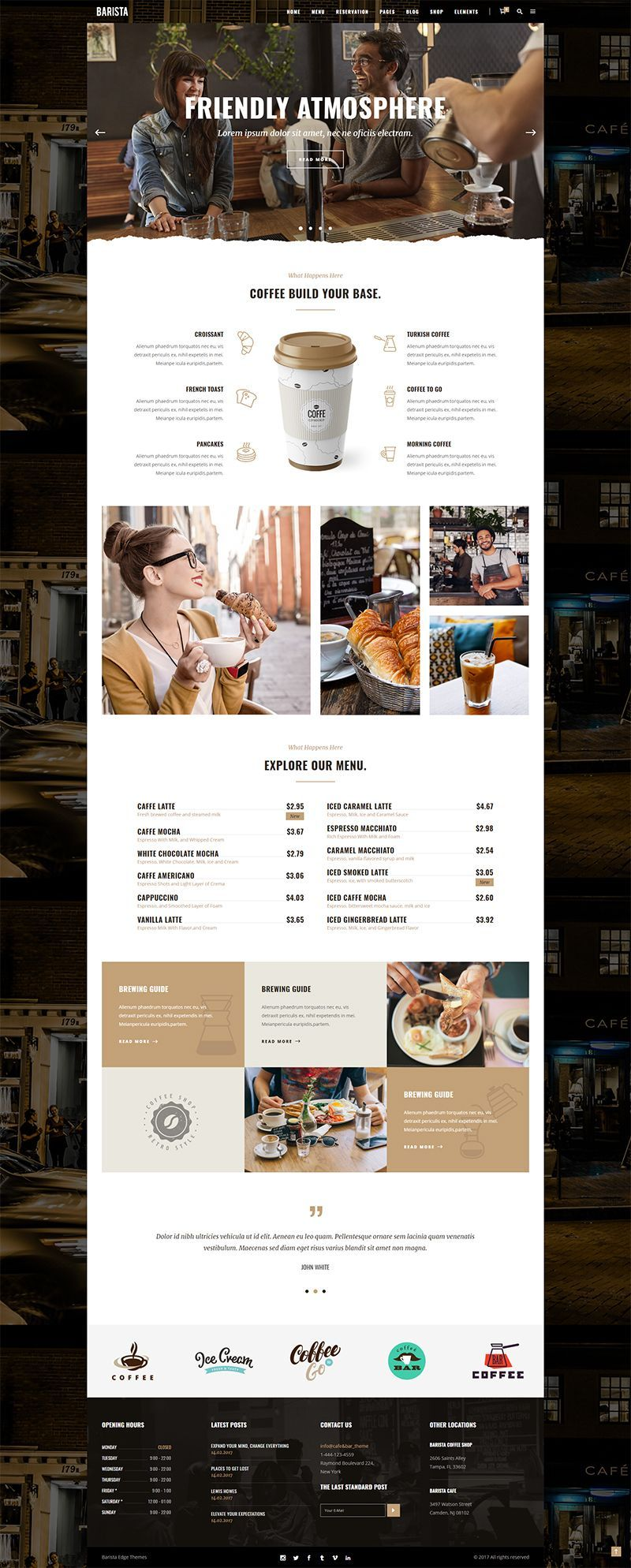If You Would Like To Build An Amazing Wordpress Website For Your Bistro Coffee Shop Cafeteria Etc Cafe Website Design Cafe Menu Design Coffee Menu Design