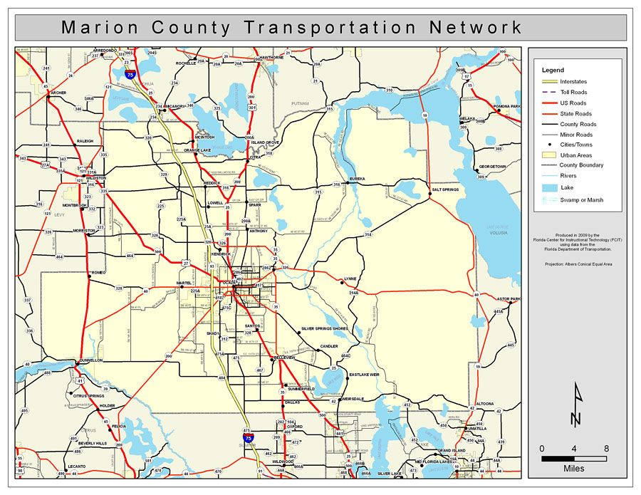 Street Maps of Florida Counties