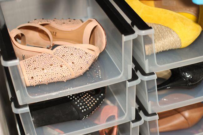 organizando-sapatos-em-pouco-espaço-borboletas-na-carteira