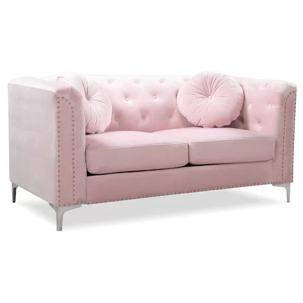 Caire Loveseat In 2020 Pink Couch Living Room Small Couch In Bedroom Love Seat