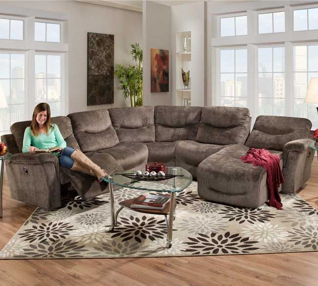 Reclining Sectional Sofas | Sectional Sofas With Recliners    SofasAndSectionals.com