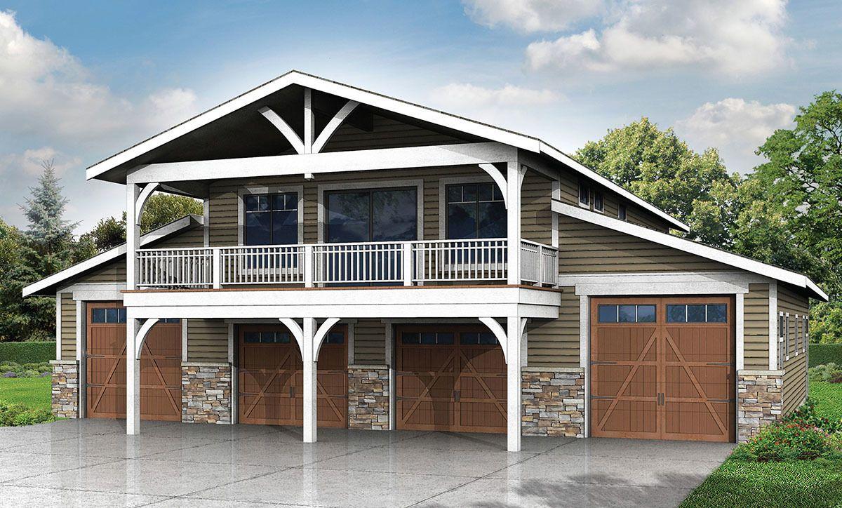 Plan 72758da Spacious 6 Car Garage W Rec Room In 2020 Garage Plans With Loft Carriage House Plans Garage House Plans