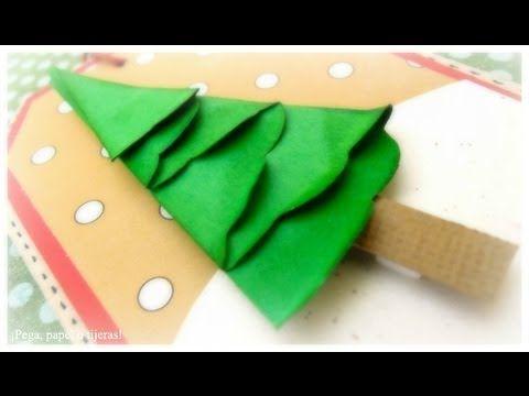 Como hacer una carta en forma de arbol de navidad