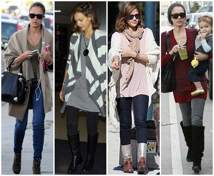Jessica Alba sabe como se vestir bem no inverno – Veja os melhores looks da atriz. 07