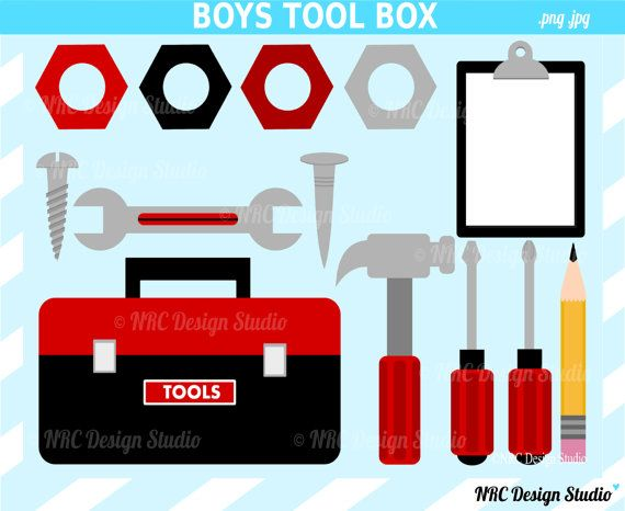 SALE - My Tool Box Clip Art - Boys Clip Art - Digital Tool Box ...