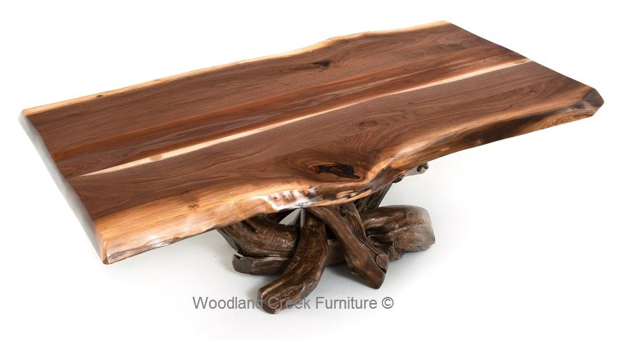 Rustic Black Walnut Coffee Table Log Cabin Coffee Table For The