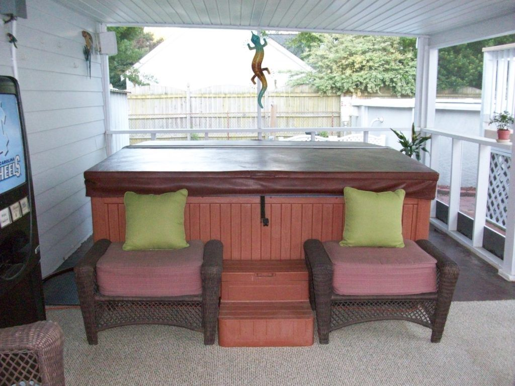 Small Patio Ideas With Hot Tub Design And Ideas Hot Tub Room