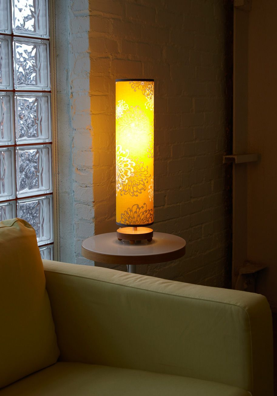 S table lamp with newer modern lamp shade