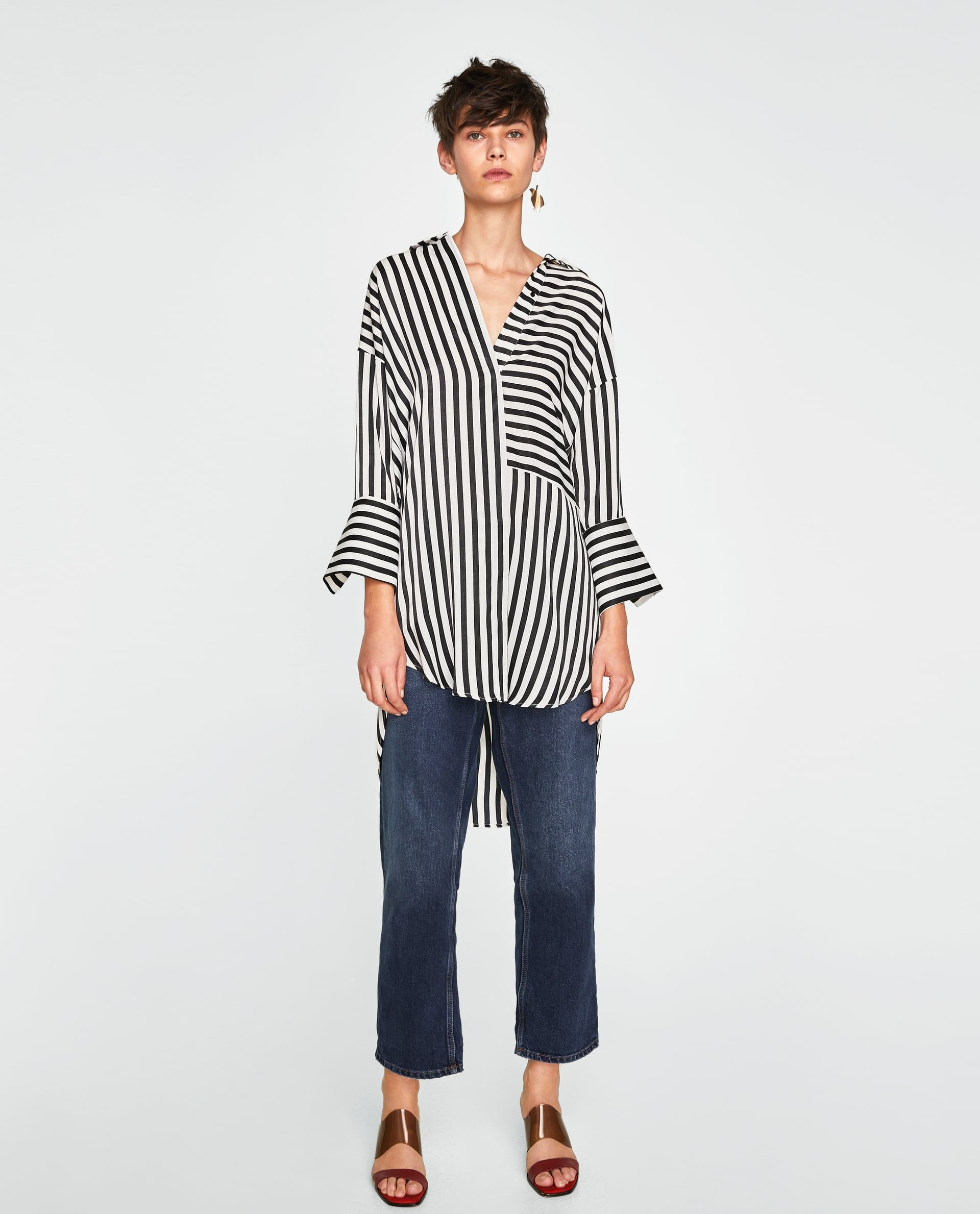 ZARA WOMAN STRIPED BLOUSE | Moda de otoño casual, Moda