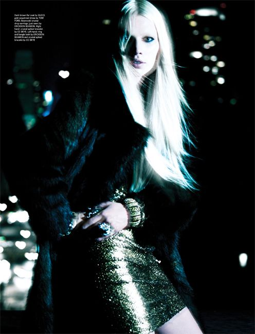 Aline Weber Glows in Nighttime Styles for Wonderland Magazine