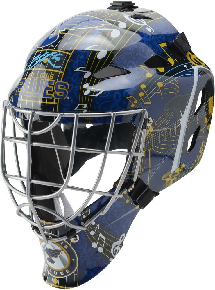 Jordan Binnington St Louis Blues Autographed Replica Goalie Mask