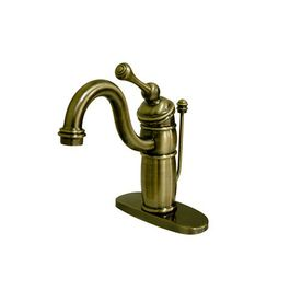 Elements Of Design Hot Springs Vintage Brass 1 Handle 4 In Centerset Bathroom Faucet Drain Included Eb1403bl Brass Bathroom Faucets