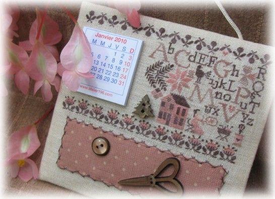 Petite calendar wall hanging - so pretty