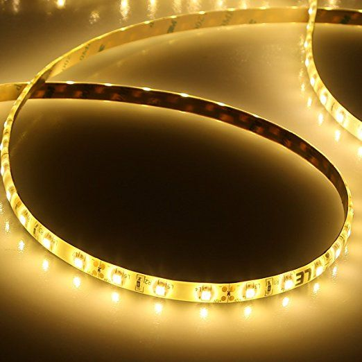 Lighting Ever Lampux 12v Flexible Led Strip Lights 3000k Warm White Waterproof 300 Units 3528 Leds Led Strip Lighting 12v Led Strip Lights Strip Lighting