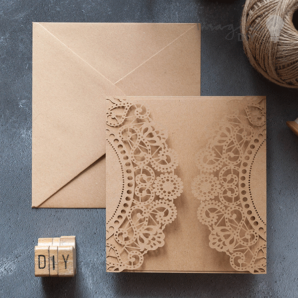 Doily laser cut range in kraft blank laser cut wedding invitation doily laser cut range in kraft blank laser cut wedding invitation diy wedding stationery solutioingenieria Gallery
