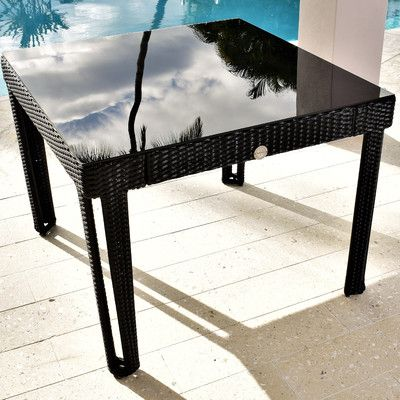 wicked wicker diamond square wicker dining table base finish/top