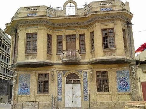 من بيوتات بغداد القديمة وطرازها المعماري الجميل وهو بيت محمد البمبيلي ثم اشتراه في التسعينات فاروق الألماني Traditional House Islamic Architecture House Styles