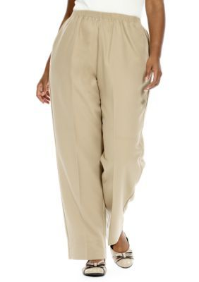 af495b43673 Alfred Dunner Plus Size Classic Pull On Pant (Average   Short ...