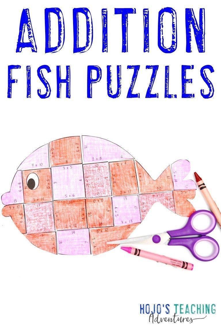 Fish Math Activities For Basic Math Fact Practice Hojo S Teaching Adventures Llc Math Facts Math Facts Addition Math Fact Practice [ 1152 x 768 Pixel ]