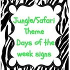 This includes: - 7 days of the week signs with animal print borders. - Yesterday was:, Tomorrow is:, and Today is: signs - 2013 and 2014 signs...