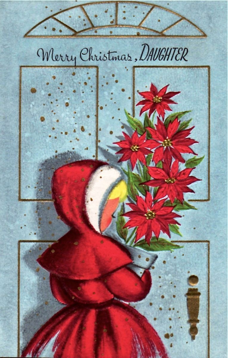 Unused Christmas Card Cf 04 Old Fashioned Christmas