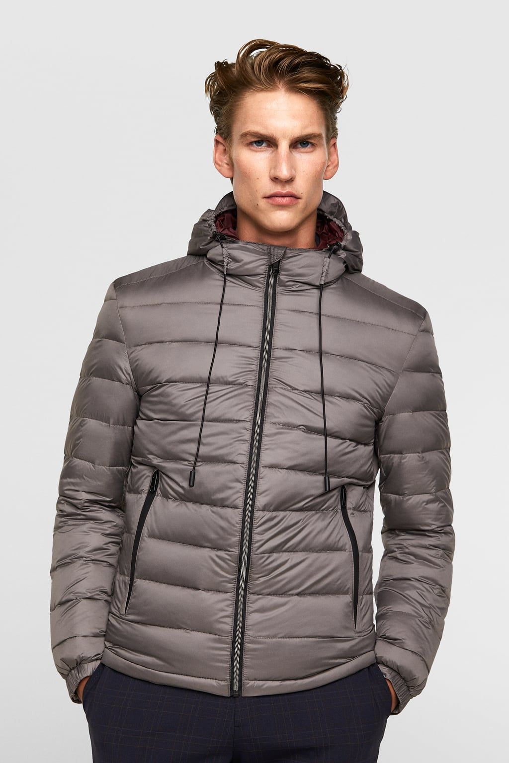 Down puffer jacket with hood | Hooded jacket, Puffer ...