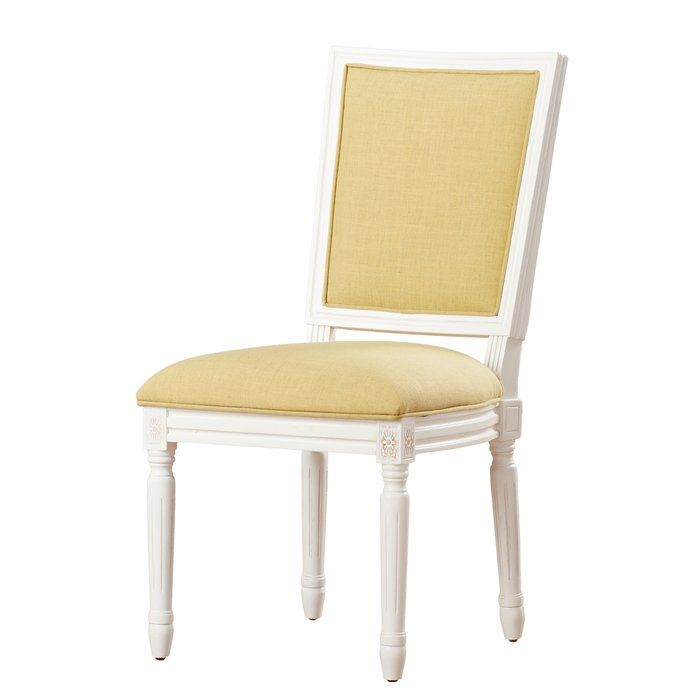 Old World Elegance Meets Modern Day Comfort In This Set Of Two French Side Chairs