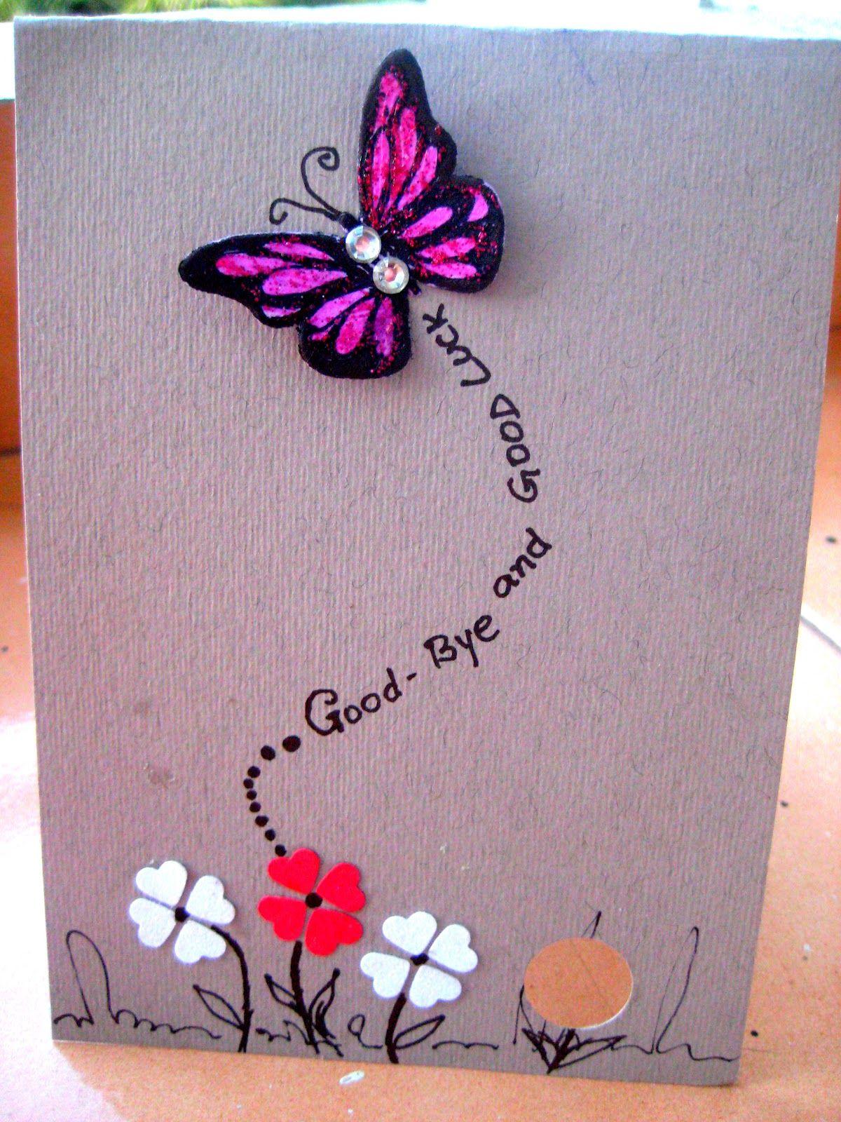 HappyMomentzz crafting by Sharada Dilip farewell card