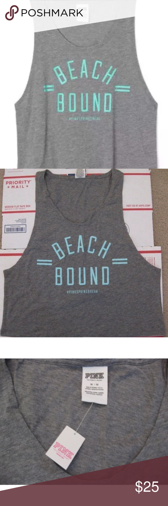 Victoria's Secret PINK Beach Bound tank Summer Brand new with tags. Medium. PINK Victoria's Secret Tops Muscle Tees
