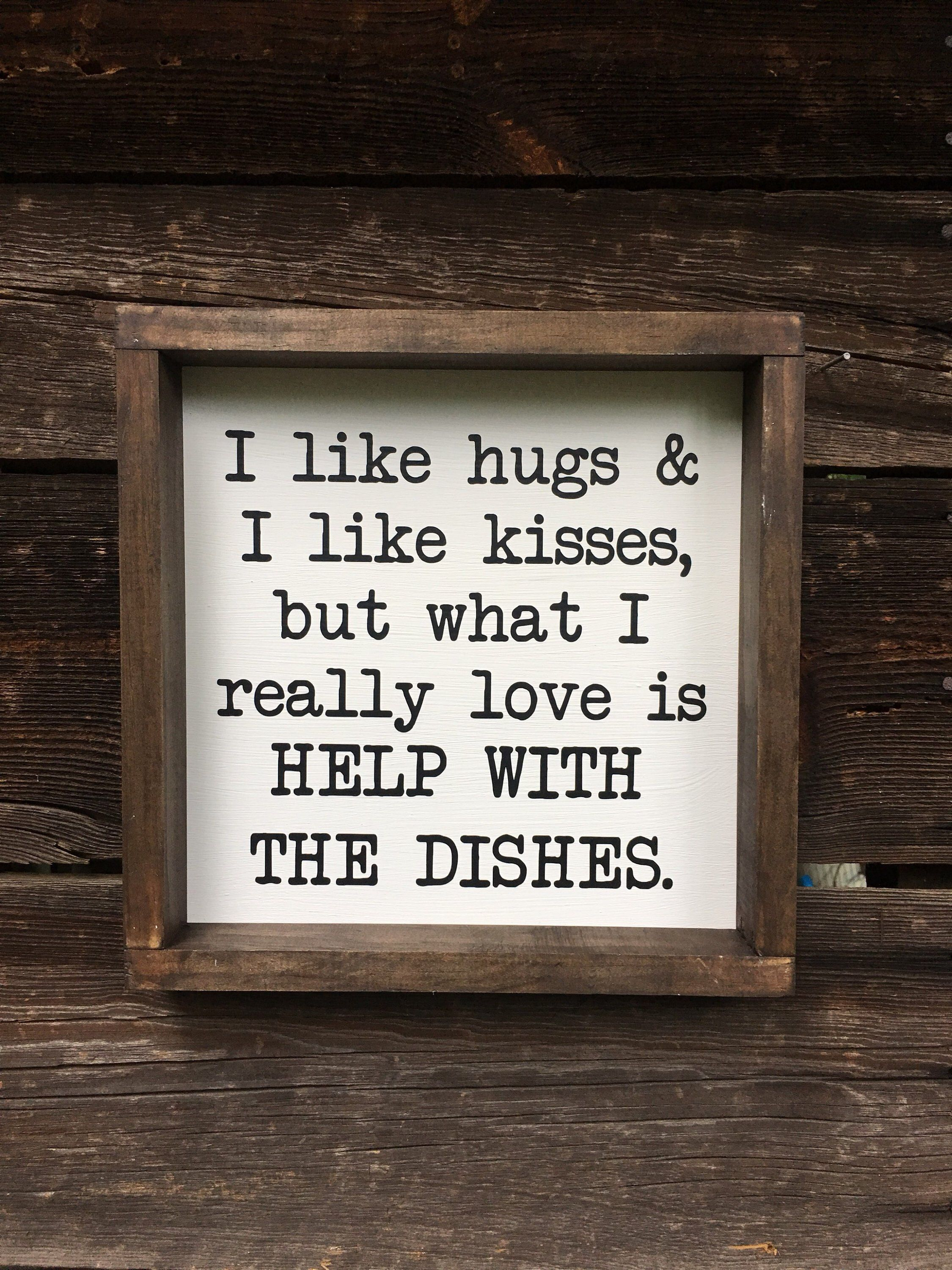 Help with the Dishes  funny  kitchen  wood sign  farmhouse | Etsy