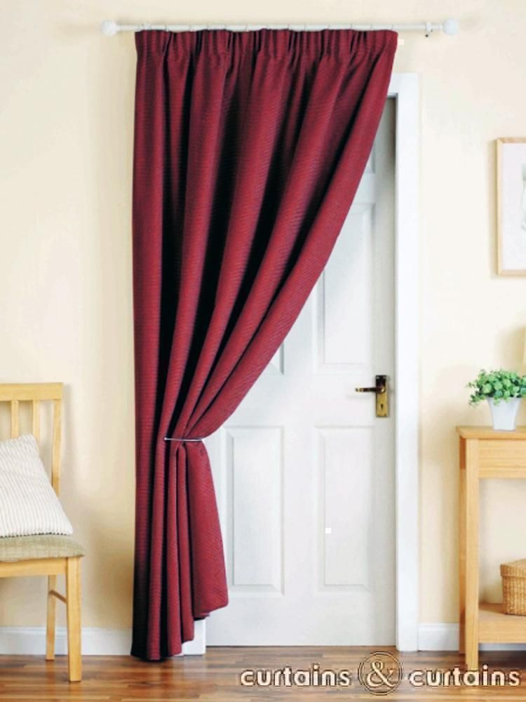 Red Pencil Pleat Thermal Door Curtain Project Time The Scariest