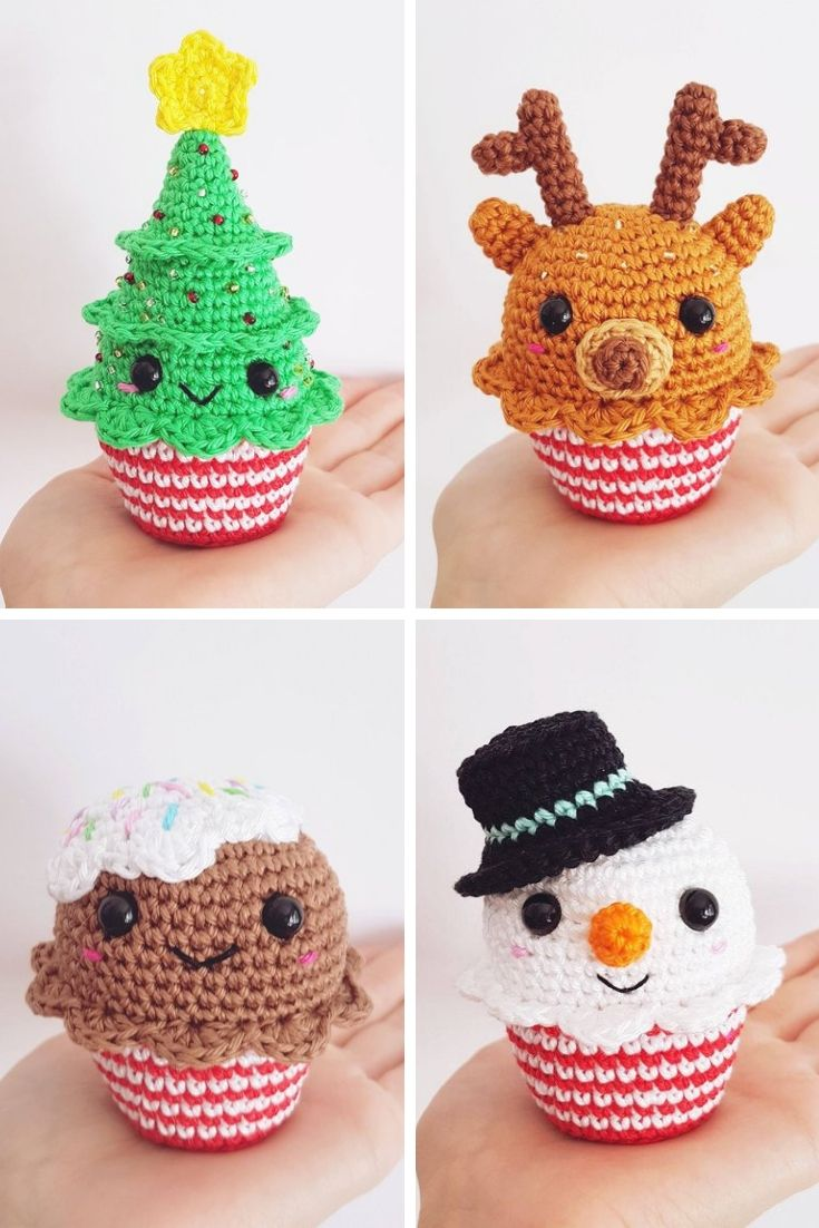 Crochet Christmas Decorations {Make some cute ornaments for your tree!} #stuffedtoyspatterns