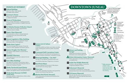 Downtown map of Juneau Alaska pdf download Alaska Maps