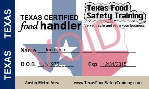 Texas Cottage Food Law Gt Resources Gt Food Handler S