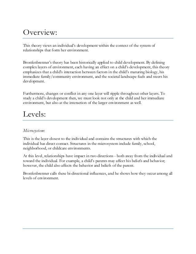 BronfenbrennerS Ecological Systems Theory Via Slideshare  Jgka