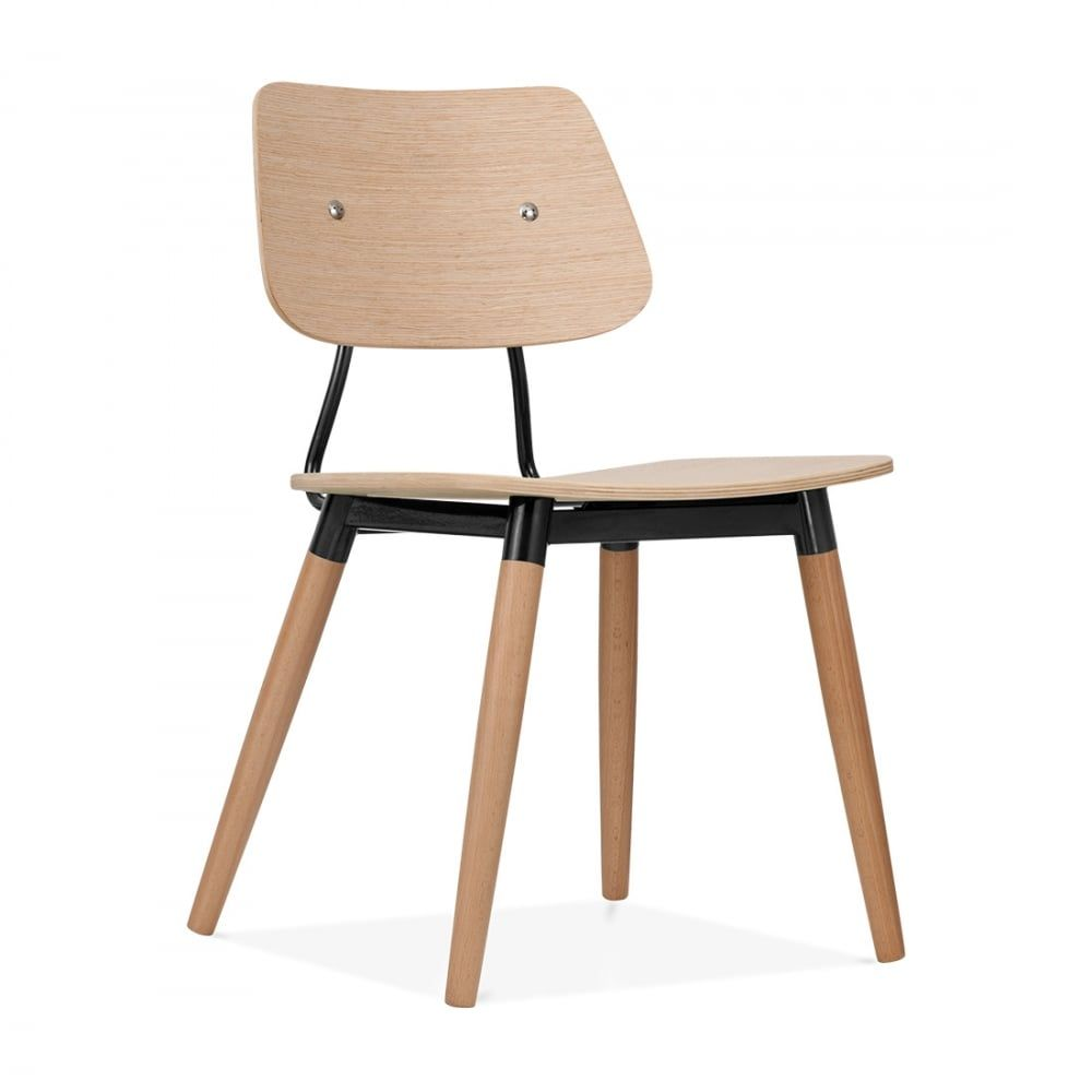 Chambre Oslo: Cult Living Oslo Chair Natural Wood - Black