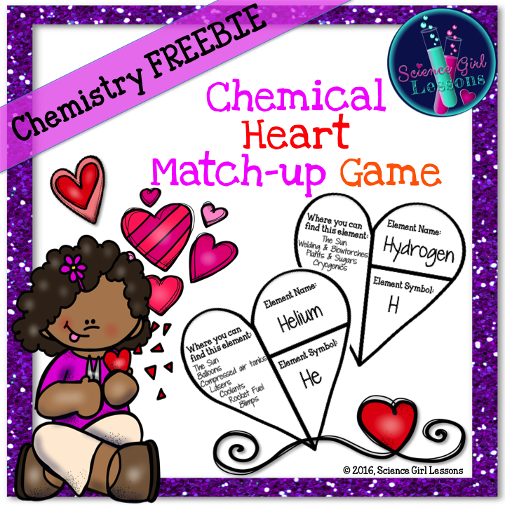 Quiz your students over the elements of the periodic table or let chemical heart match up game name symbolsperiodic tablescience urtaz Images