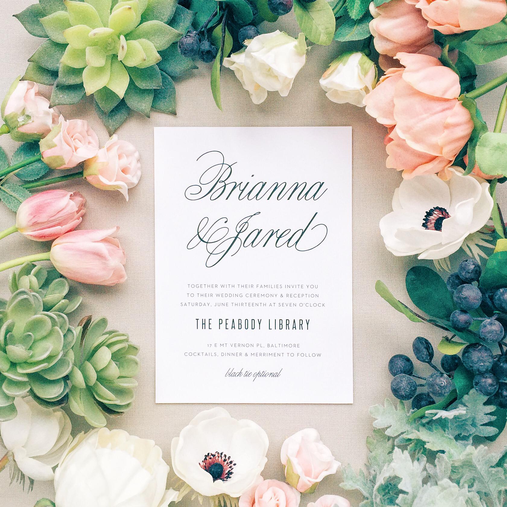 Traditional Script Wedding Invitations | Invitation suite, Weddings ...