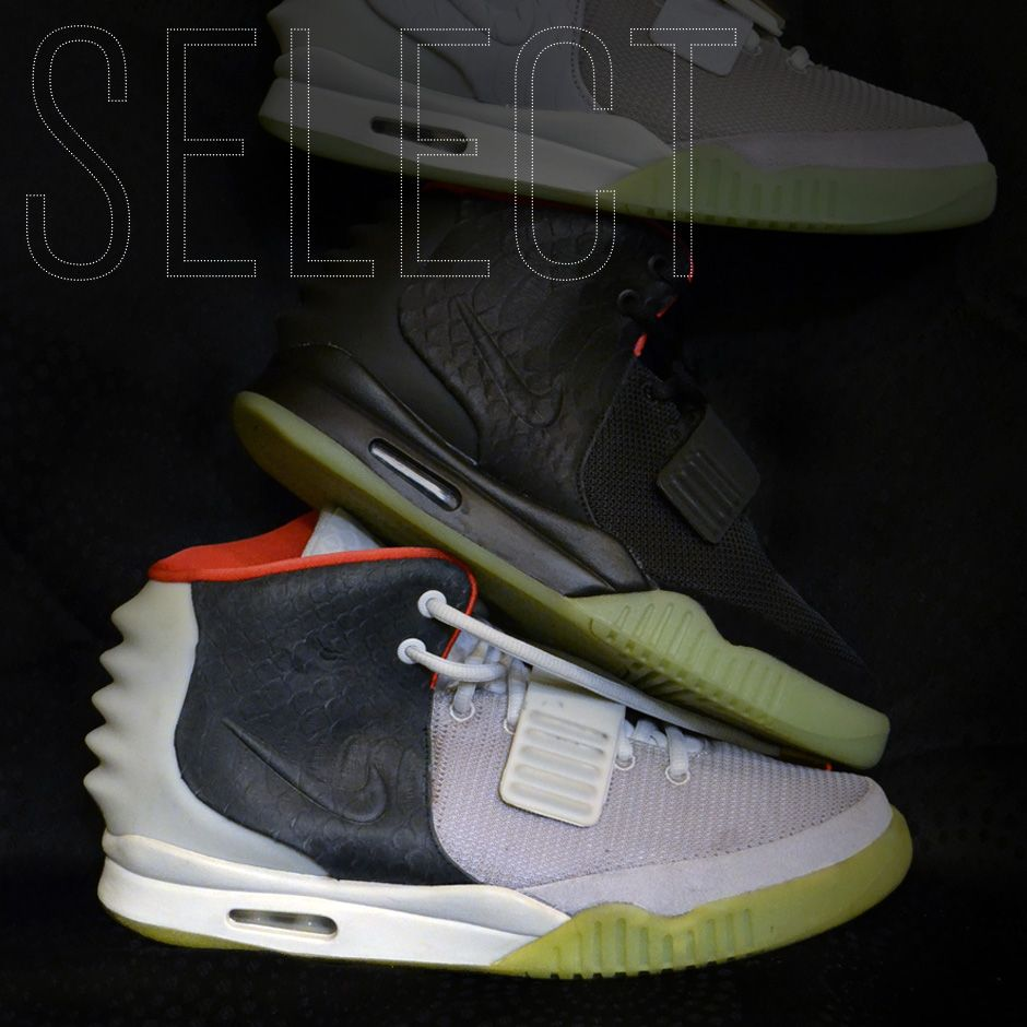 d1c20dd47c40 sn select nike air yeezy 2 sample platinum black cover SELECT Exclusive   Kanye Wests 1 of 1 Air Yeezy 2 Sample