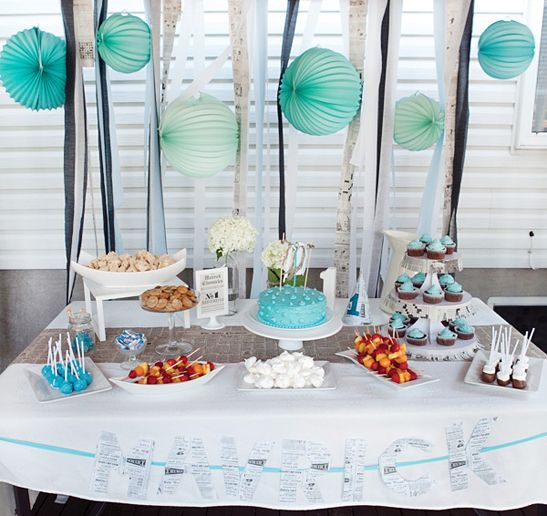 decoration table anniversaire bebe 1 an