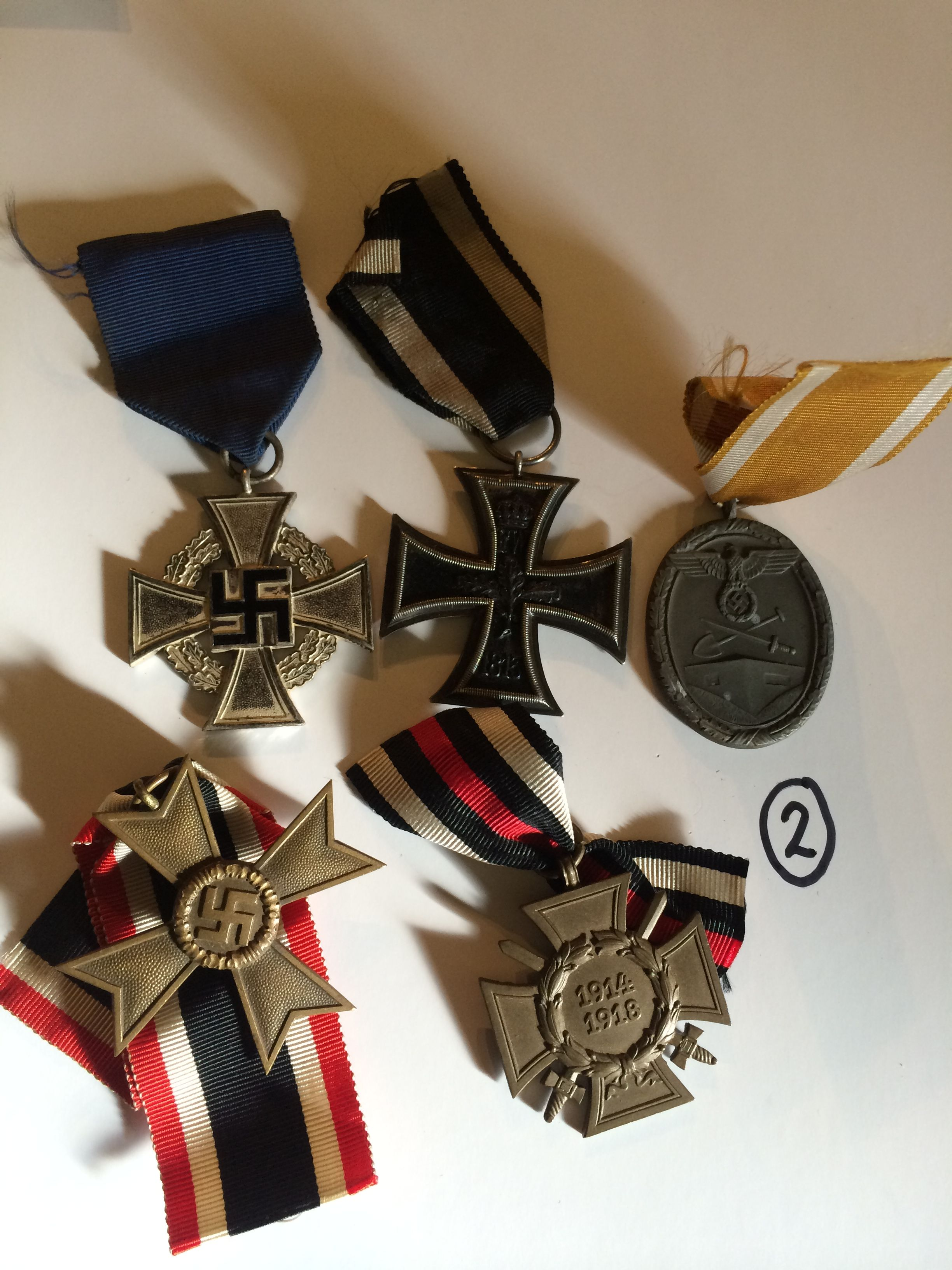 Group of 5 German WW1/WW2 Medals and Ribbons - bid on this before 27th Feb 2015! http://www.bidonthis.co.uk/event/Yeovil-Auction-Rooms/eventless/Group-of-5-German-WW1_WW2-Medals-and-Ribbons