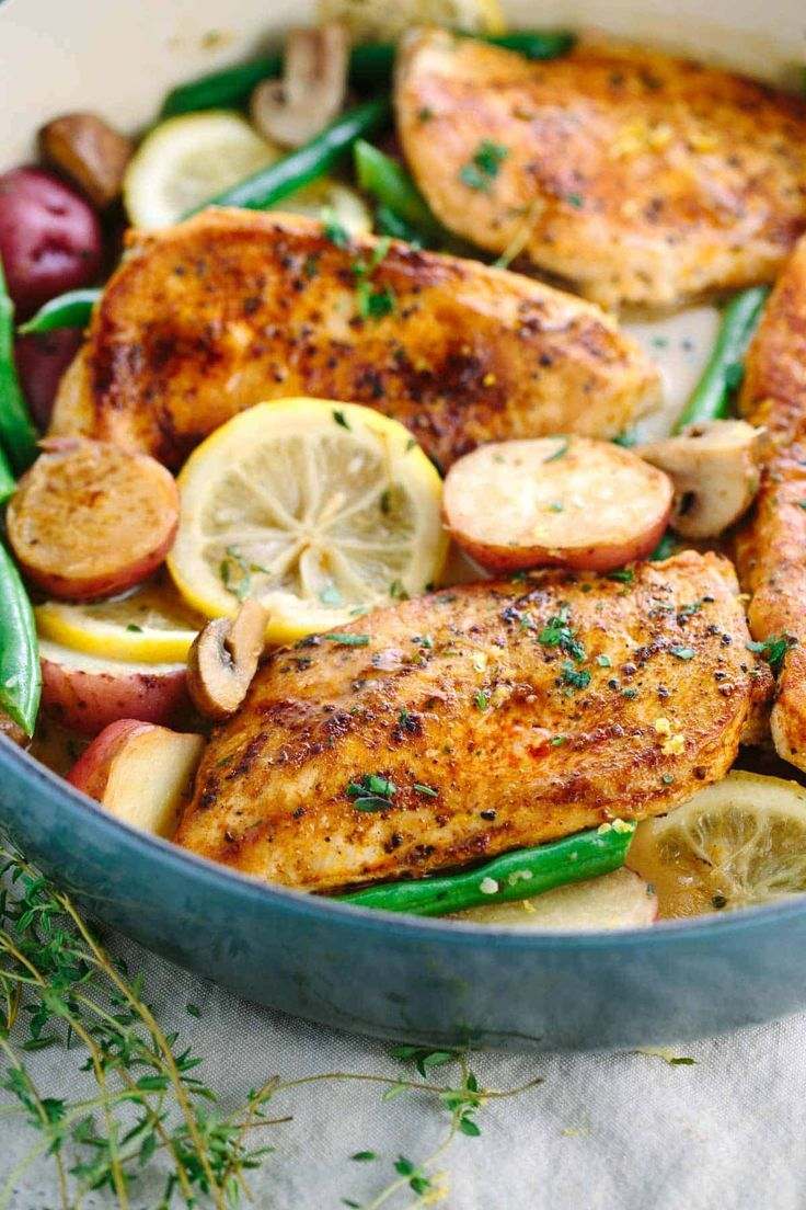 One-Pot lemon chicken with vegetables recipe favorite recipe images